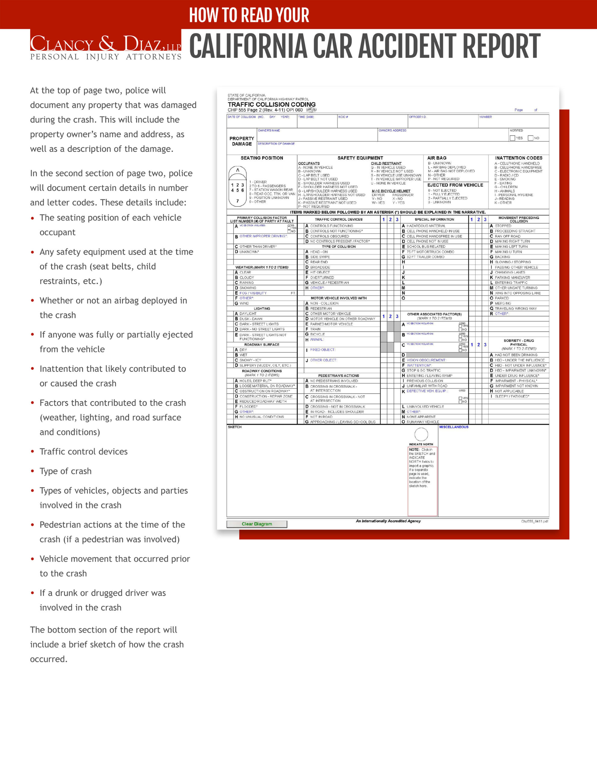 California Car Accident Report page 2