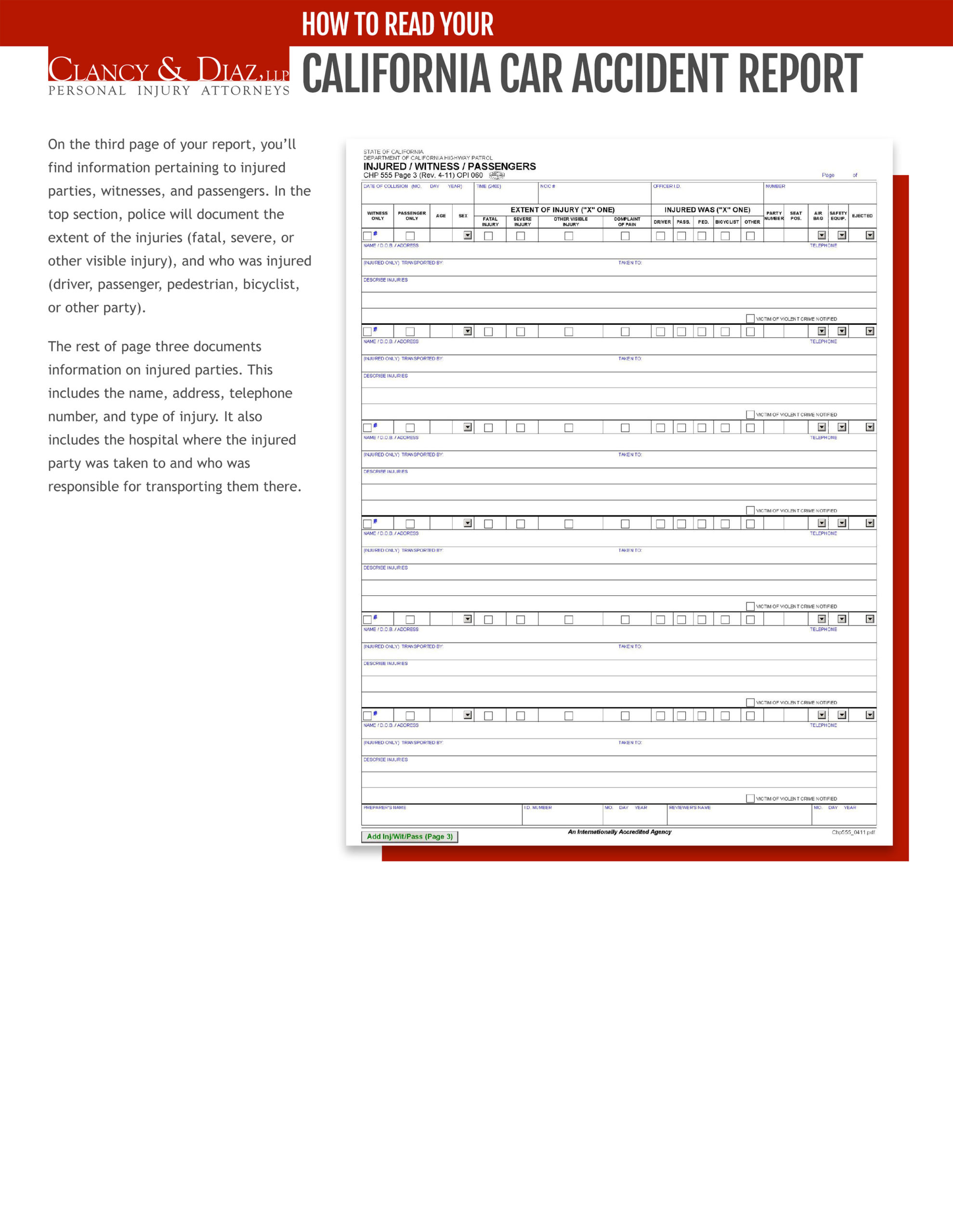 California Car Accident Report page 3